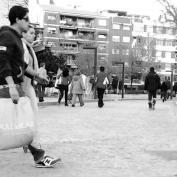 reciente ejemplo de un espacio ganado para peatones, bicis, patines y otros no motorizados